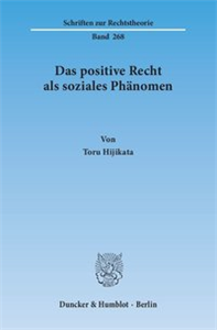 Das positive Recht als soziales Phänomen.
