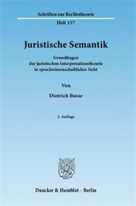 Juristische Semantik.