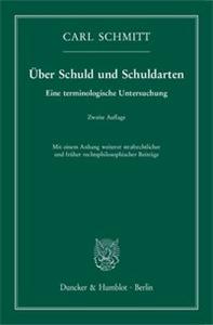 Über Schuld und Schuldarten.