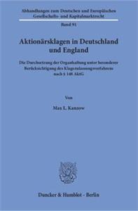 Aktionärsklagen in Deutschland und England.
