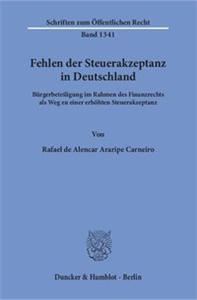 Fehlen der Steuerakzeptanz in Deutschland.