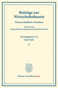 Beiträge zur Wirtschaftstheorie.