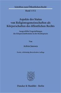 Aspekte des Status von Religionsgemeinschaften als Körperschaften des öffentlichen Rechts.