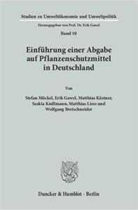 Einführung einer Abgabe auf Pflanzenschutzmittel in Deutschland.