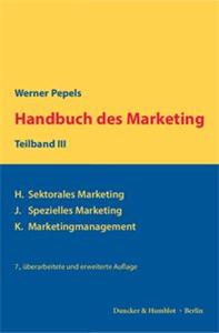 Handbuch des Marketing, Teilband III.
