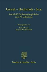 Umwelt – Hochschule – Staat.