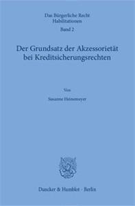 Der Grundsatz der Akzessorietät bei Kreditsicherungsrechten.