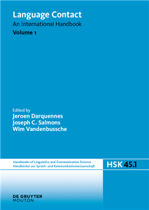 Language Contact. Volume 1
