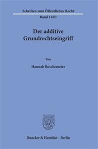 Der additive Grundrechtseingriff.