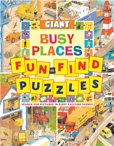 GIANT FUN-TO-FIND PUZZLES BUSY PLACES
