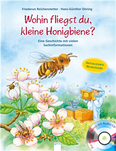 Animals in the Wild. Where Are You Flying to, Little Honey Bee?
