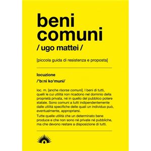 BENI COMUNI (COMMON GOODS)