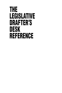 Legislative Drafter's Desk Reference, 2nd ed.
