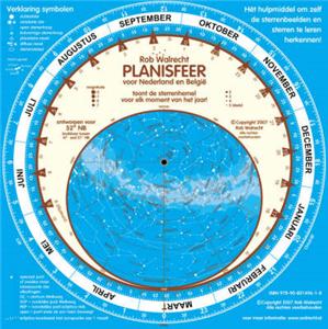 PLN-NL – Dutch Planisfeer voor 52° noord