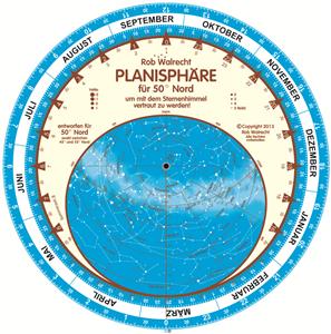 PLN-50D – German Planisphäre für 50° Nord