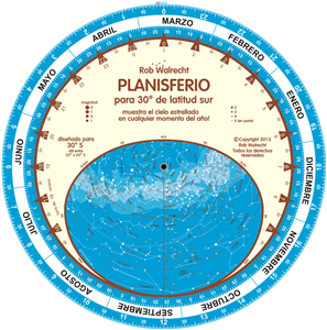 PLN-S30Sp – Spanish Planisphere for 30° south